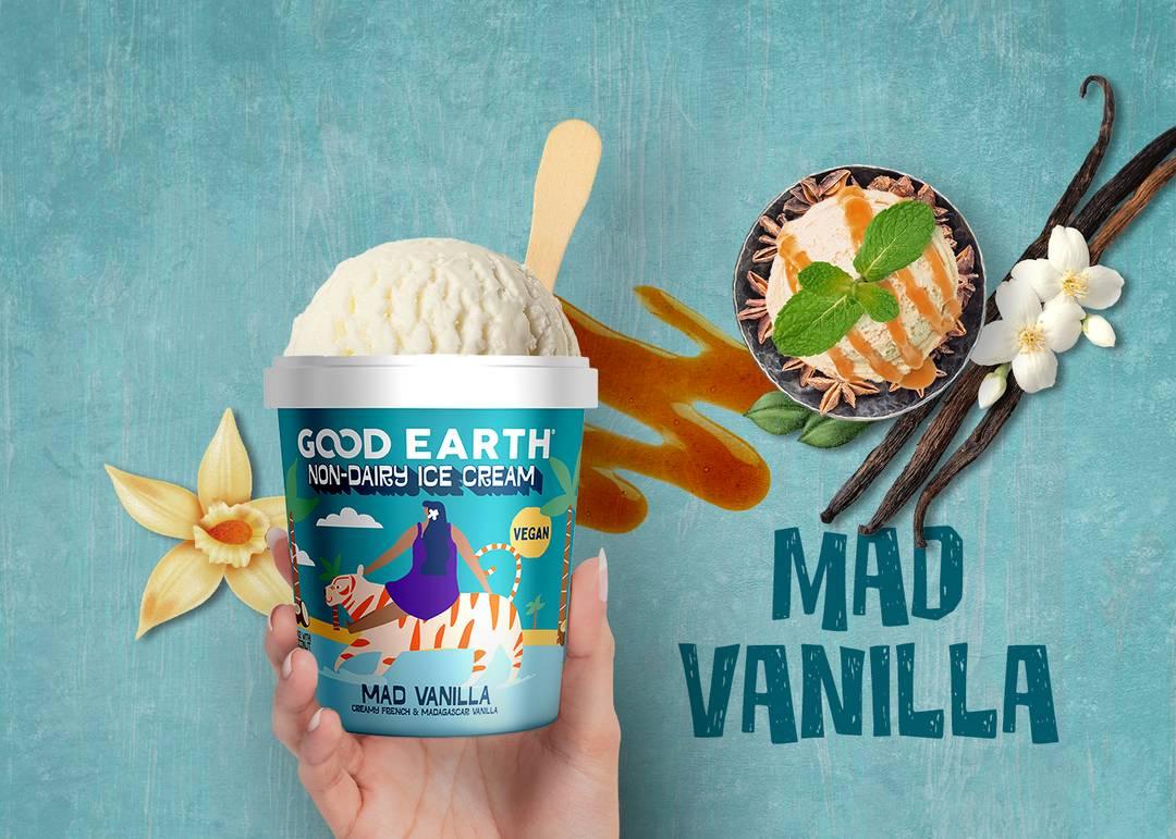 Good Earth Mad Vanilla Non-Dairy Ice Cream Banner