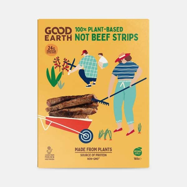 Good Earth Not Beef Strips 160g Pack Front Shot