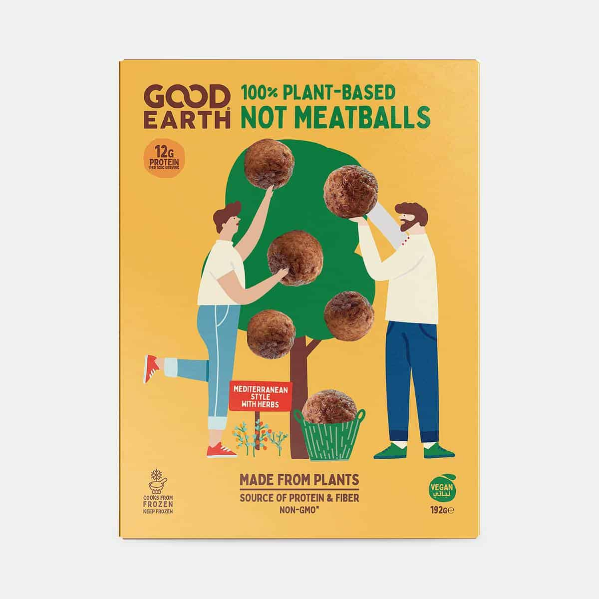 Good Earth Not Meatballs 192g Pack Front Shot