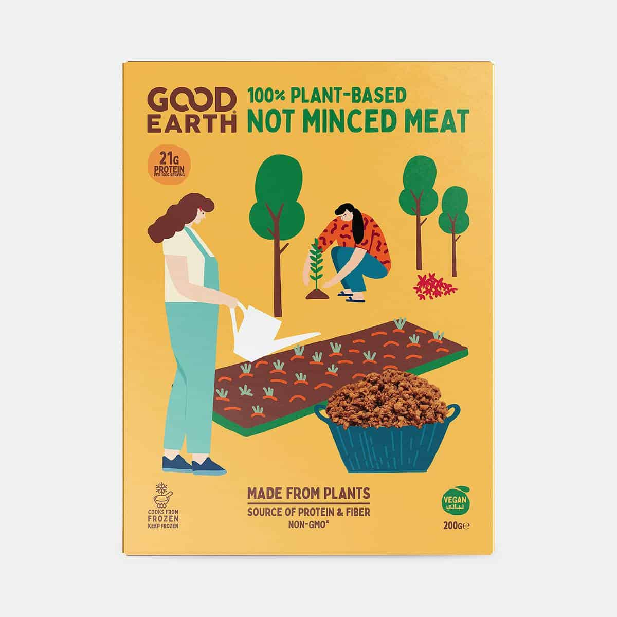 Good Earth Not Minced Meat 200g Pack Perspective Shot