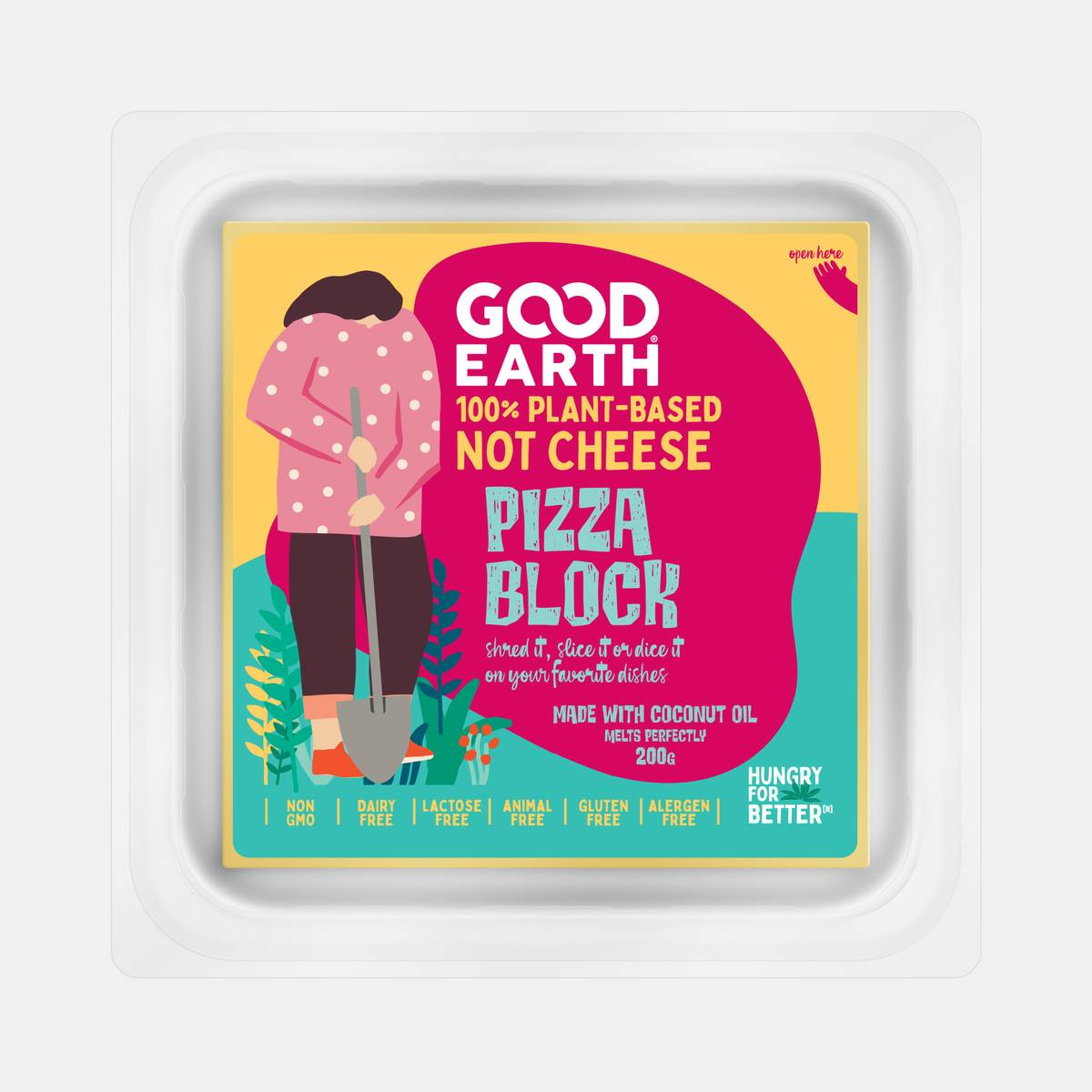 Good Earth Plant-Based Pizza Block 200 grams Front