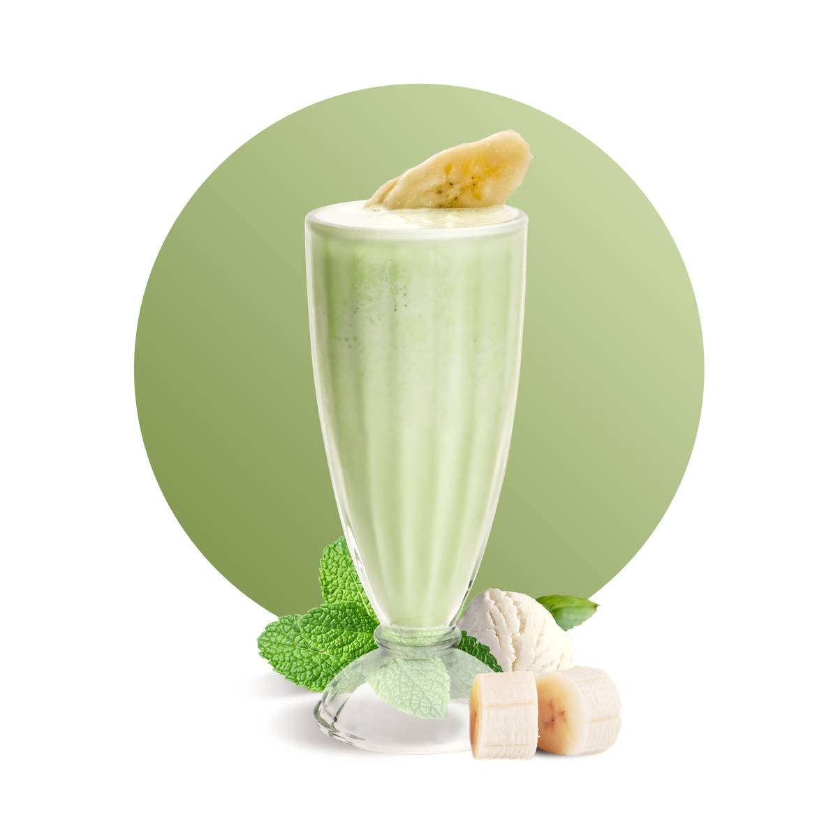 Green Mint Banana Frozen Drink Recipe