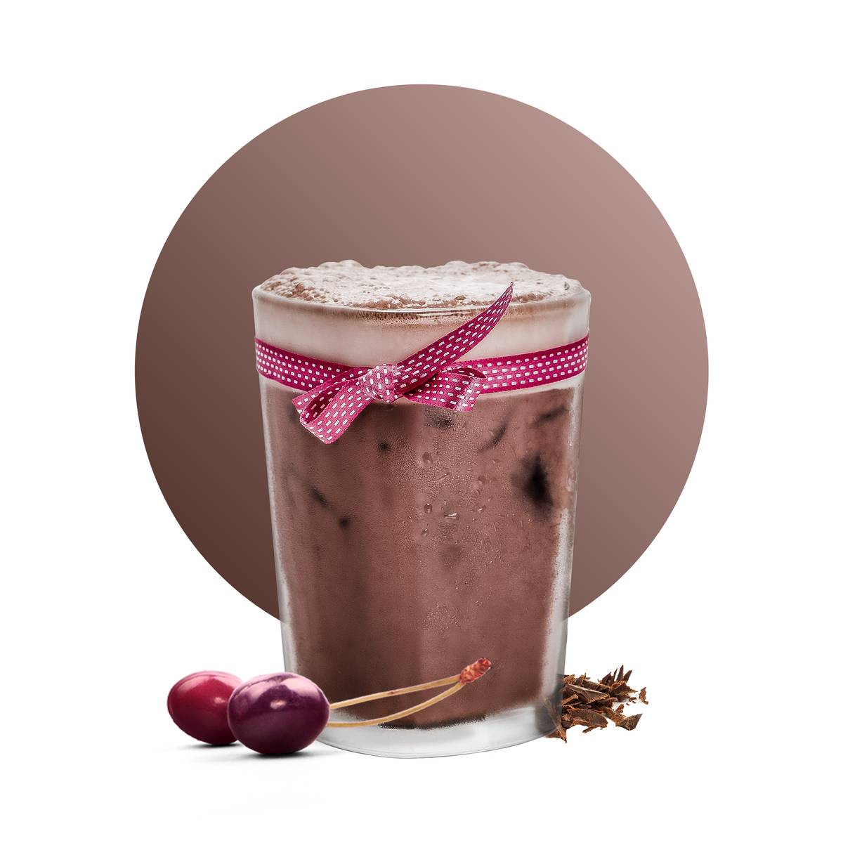 Iced Cherry Chocolate Drink