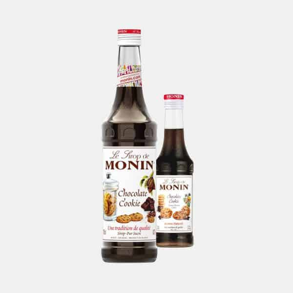 MONIN Chocolate Cookie Syrup Glass Bottles