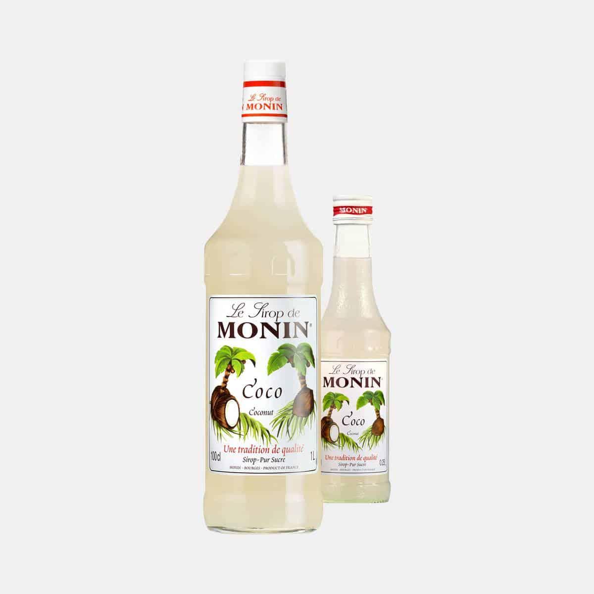 Monin Coconut Syrup Glass Bottles