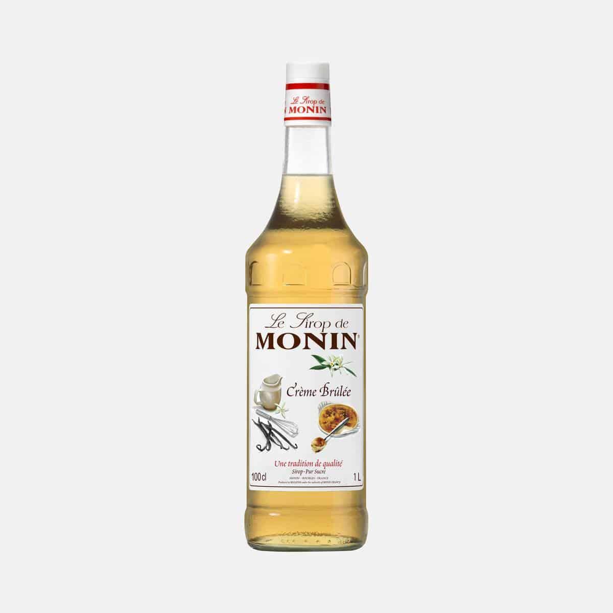 Monin Creme Brule Syrup 1 Liter Glass Bottle