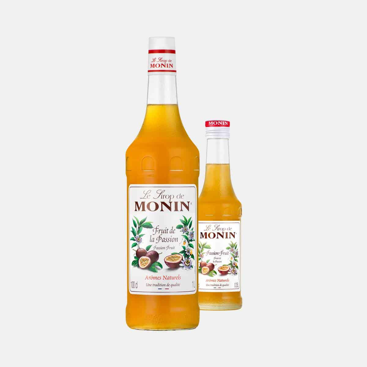Monin Passion Fruit Syrup Glass Bottles