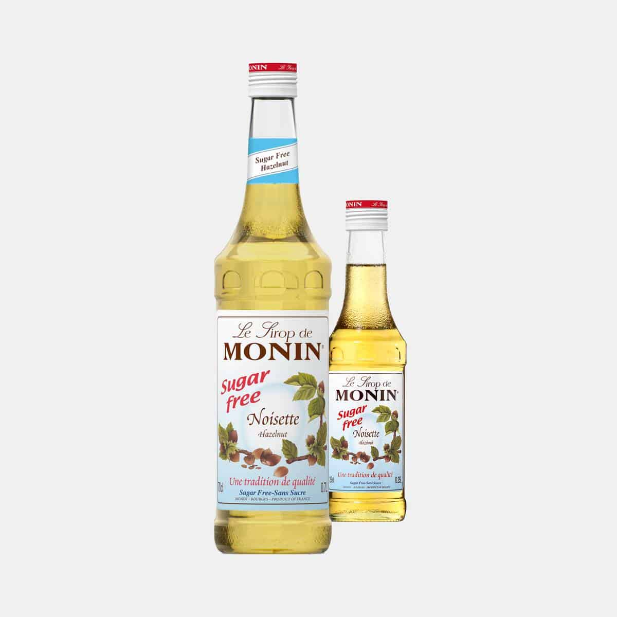 MONIN Sugar Free Hazelnut Syrup Glass Bottles