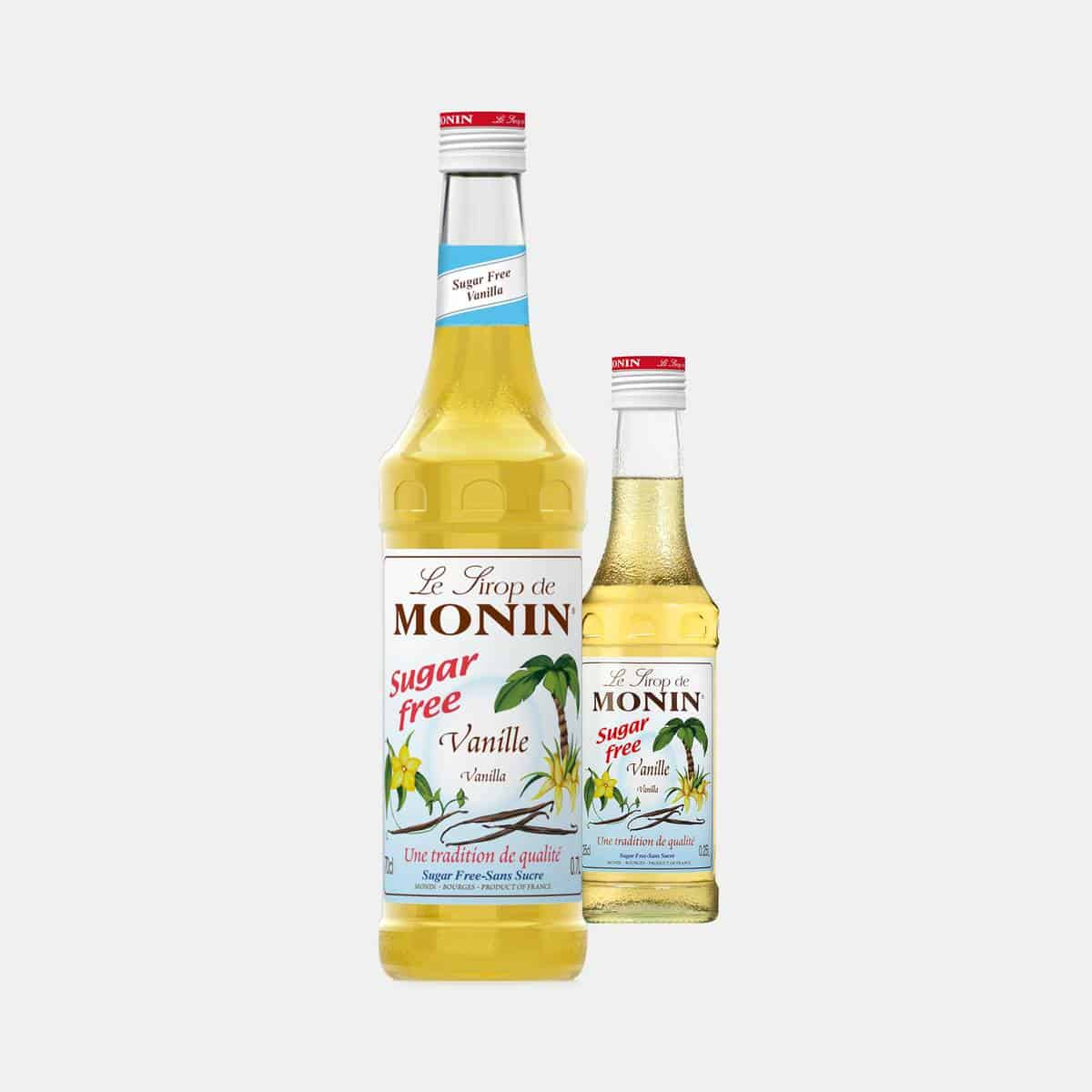 MONIN Sugar Free Vanilla Syrup Glass Bottles