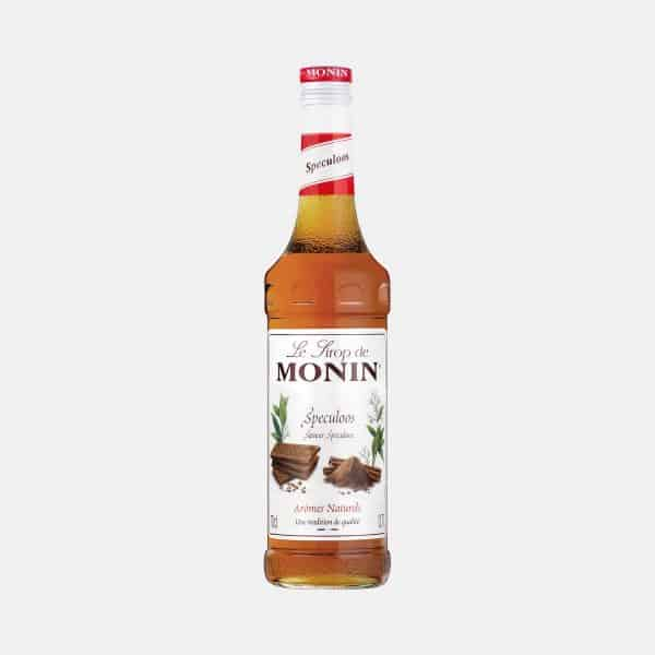 Monin Speculoos Syrup 700ml Glass Bottle with Drink