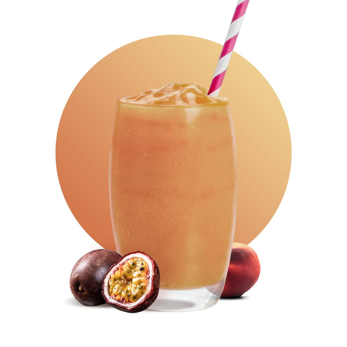 Peach Passion Smoothie Drink