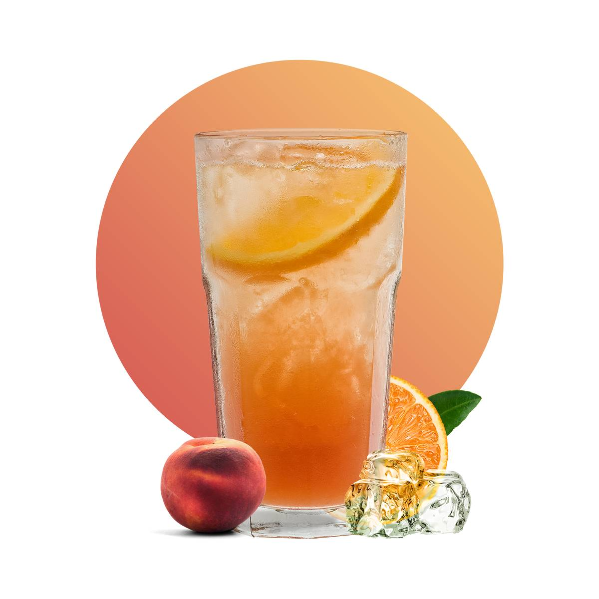 Peach Refreshing Mocktail Drink Recipe