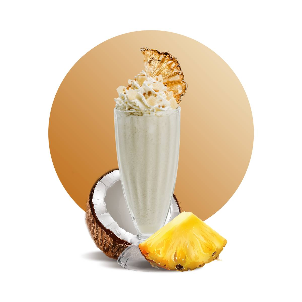 Pineapple Milkshake Drink Recipe