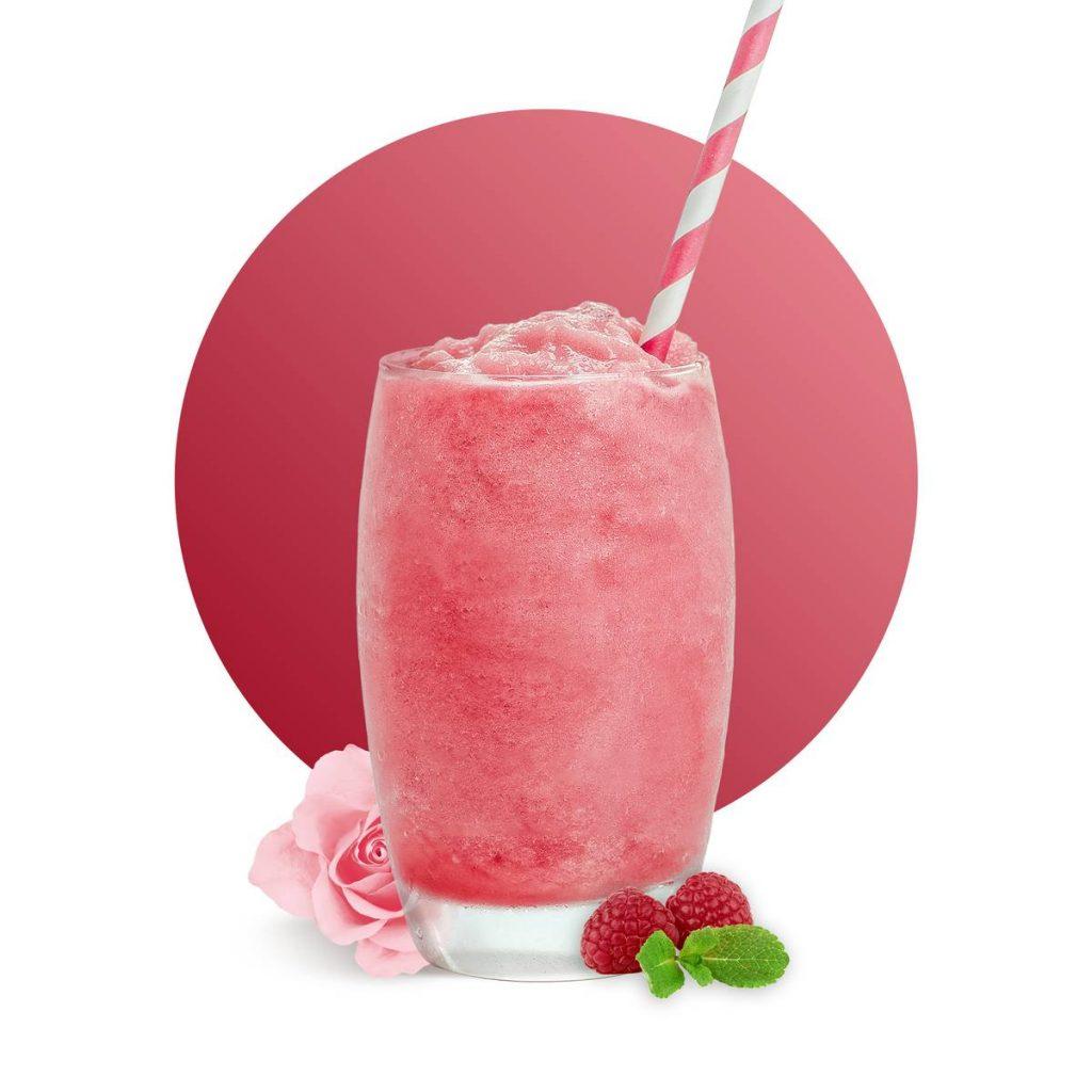 Raspberry Rose Smoothie Drink