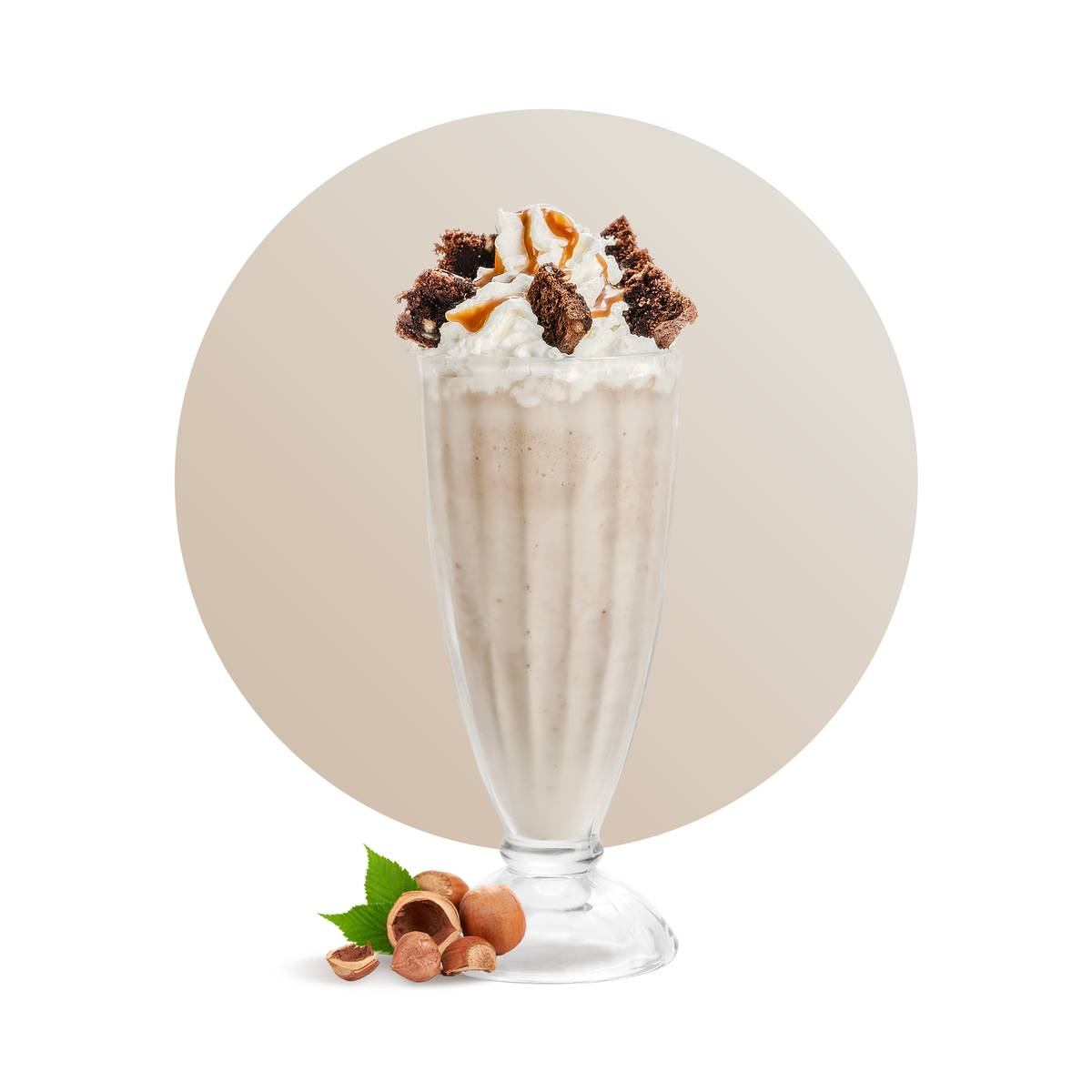 Roasted Hazelnut Frappe Drink Recipe