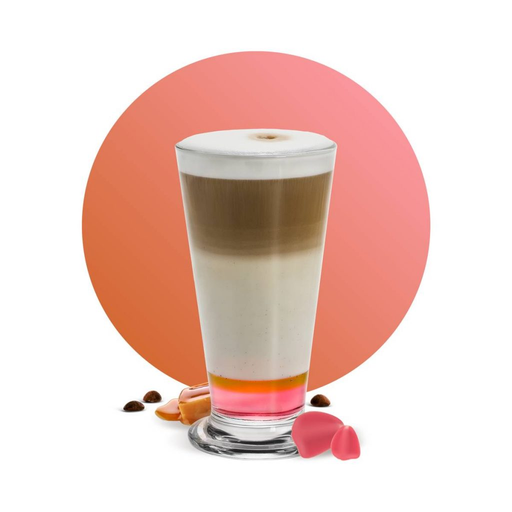 Rose Caramel Latte Drink Recipe