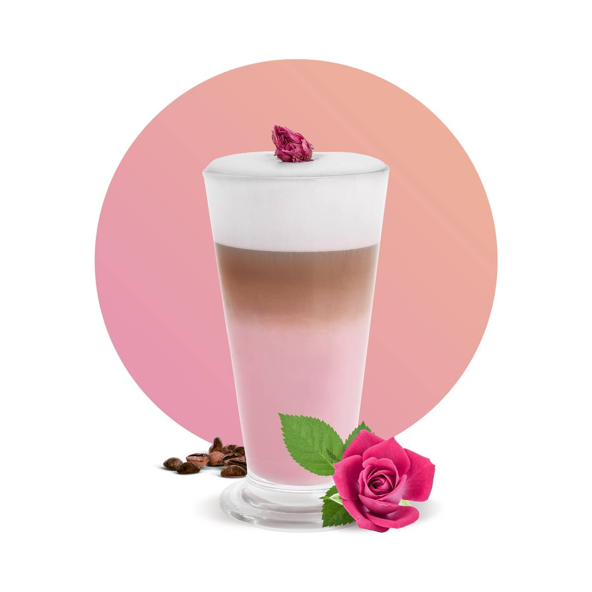 Rose Latte Drink Recipe
