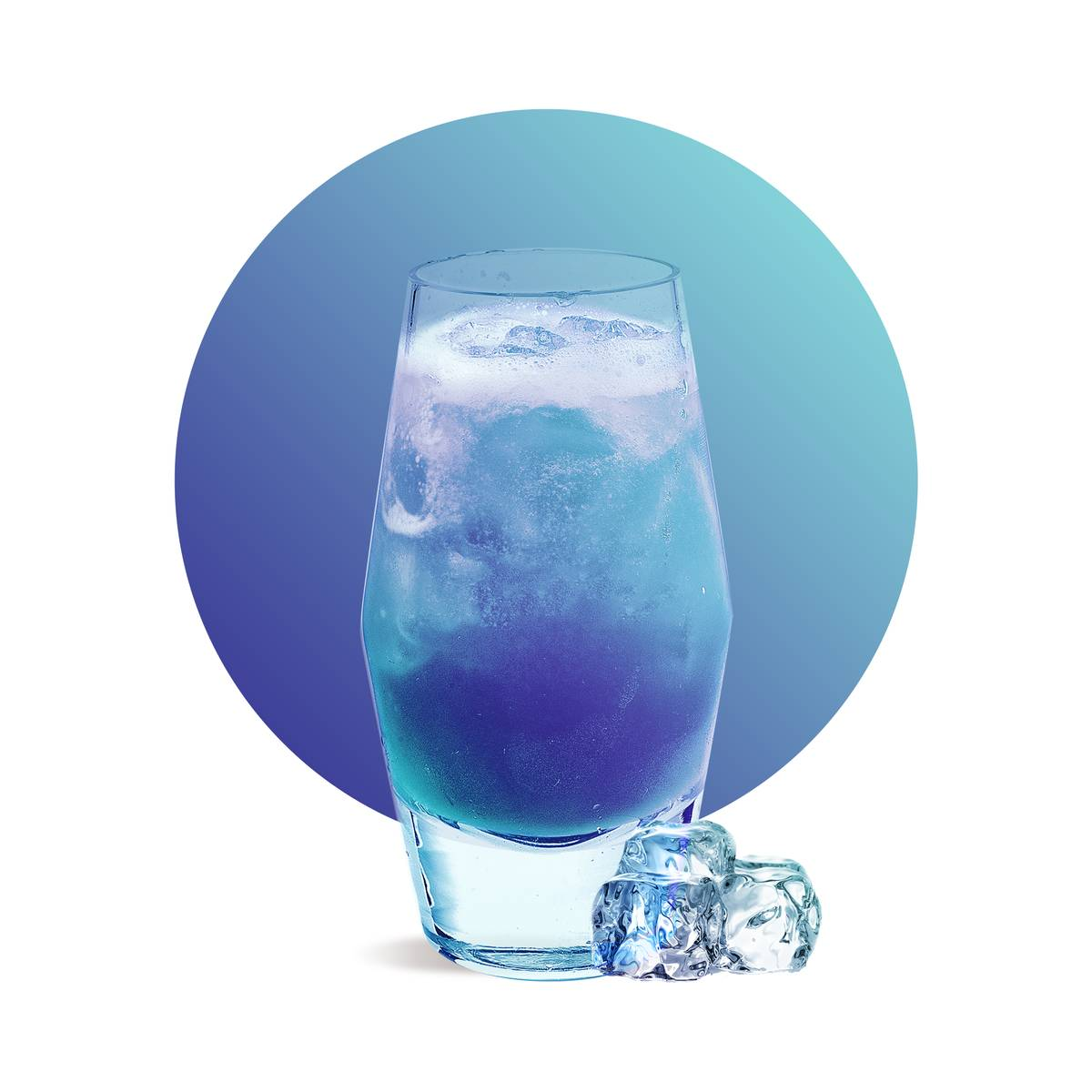 Rosy Blue Soda Drink Recipe