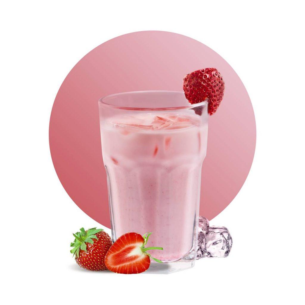 Strawberry Yogurt Sparkling Drink Recipe
