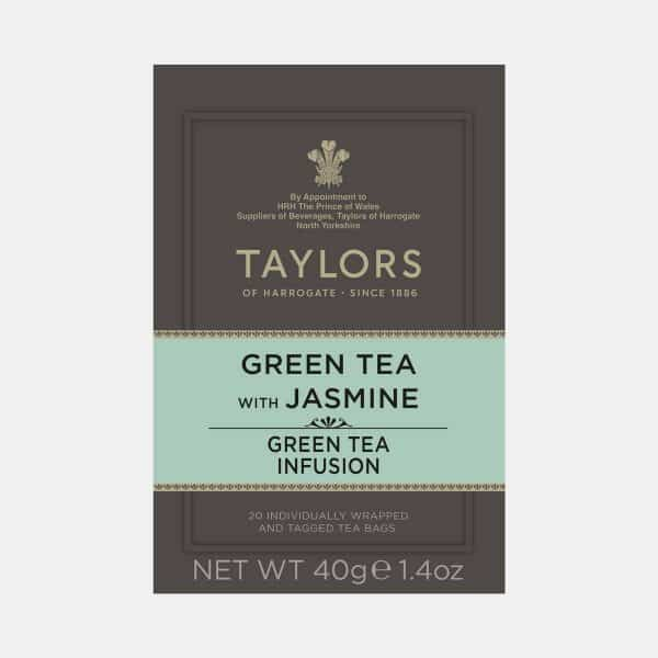 Taylors of Harrogate Green Tea with Jasmine 20s Pack