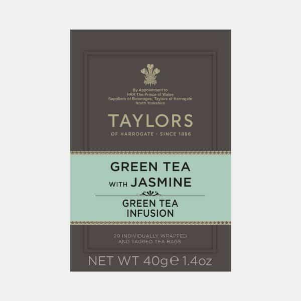 Taylors of Harrogate Green Tea with Jasmine 20s Pack