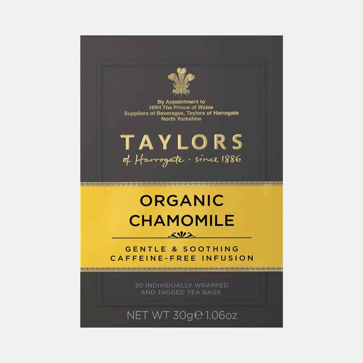 Taylors of Harrogate Organic Chamomile Tea 20s Pack