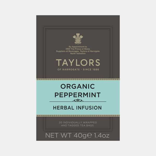 Taylors of Harrogate Organic Peppermint Tea 20s Pack