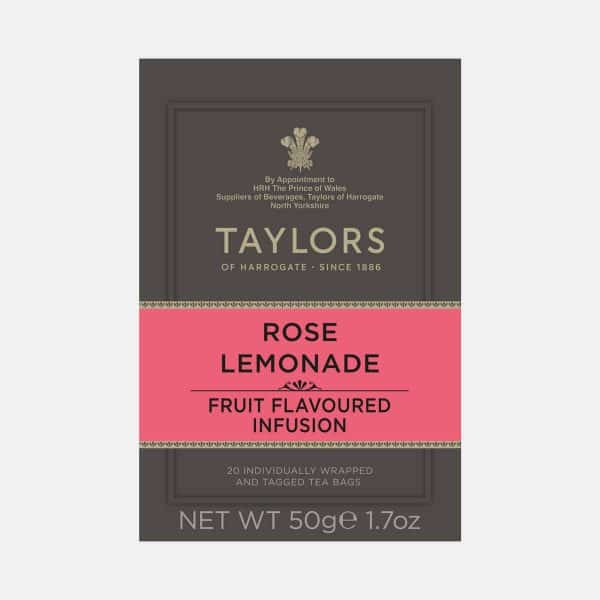 Taylors of Harrogate Rose Lemonade Tea 20s Pack