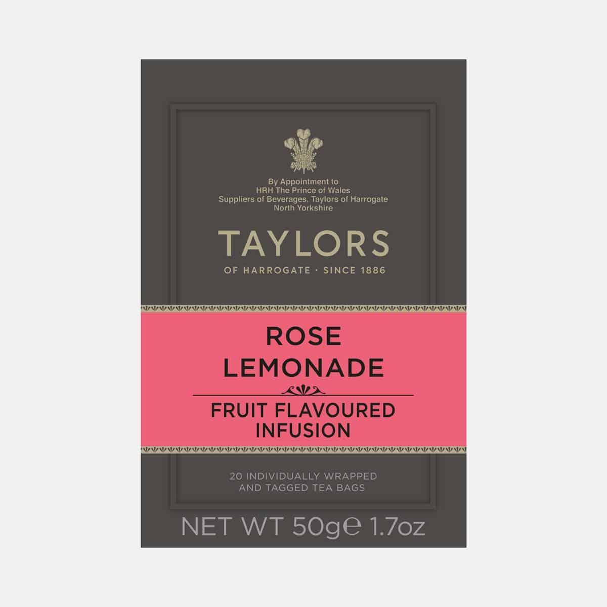 Taylors of Harrogate Rose Lemonade Tea 20s Pack