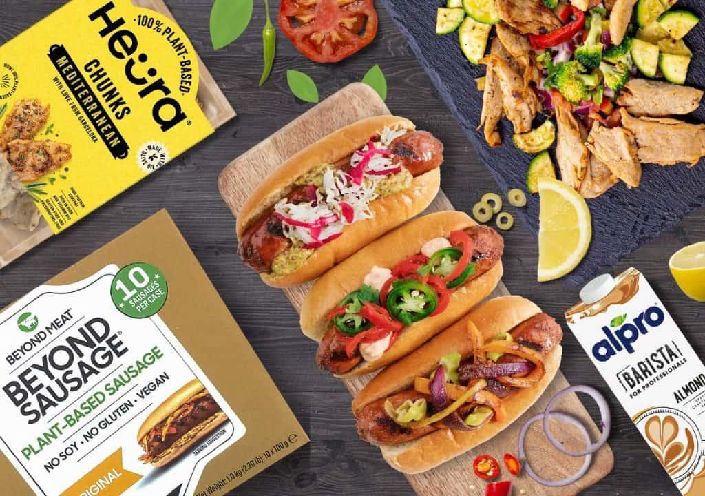 Beyond Sausage Heura Mediterranean Chunks and Alpro Almond Bundle Veganuary Offer