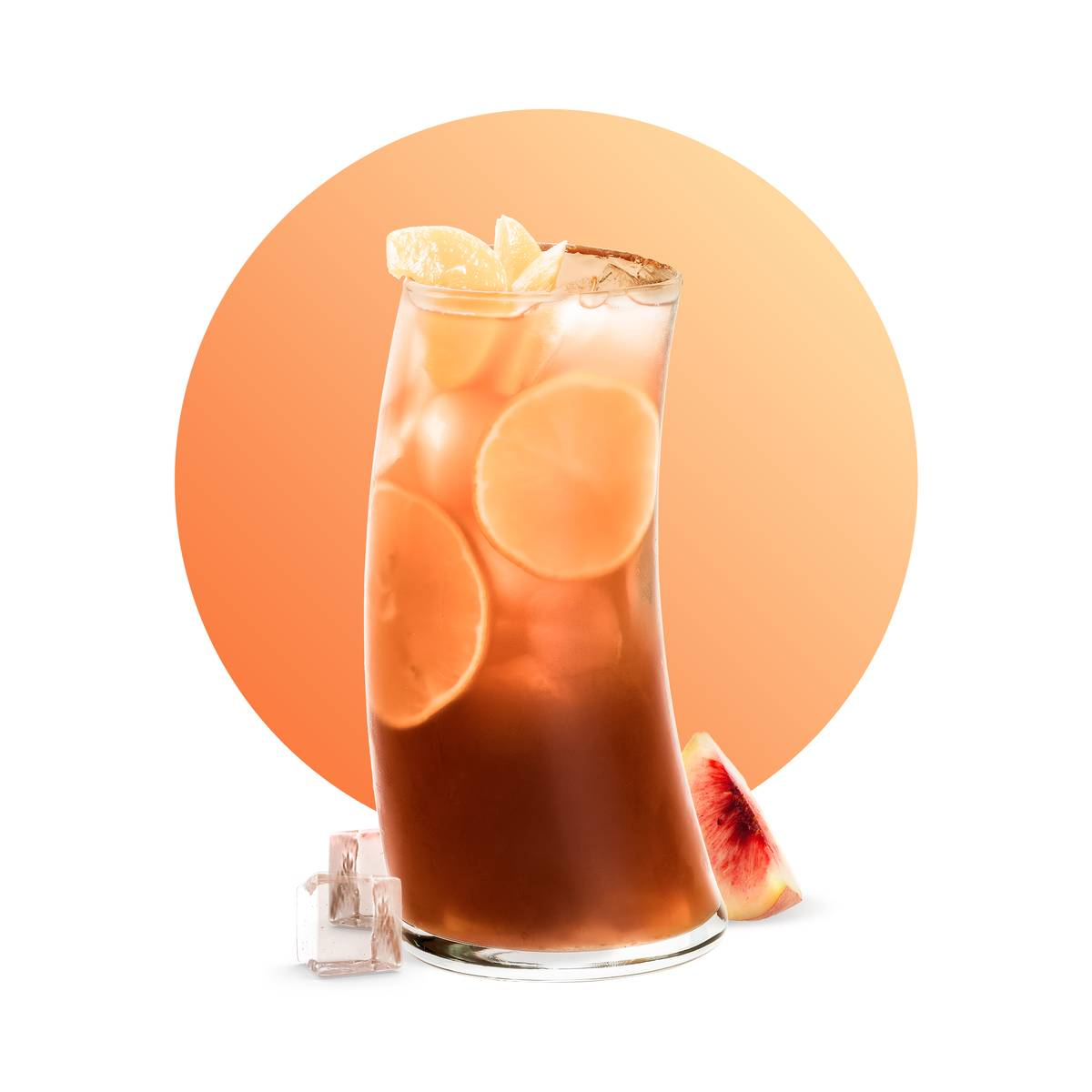 Yuzu Peach Ice Tea Drink